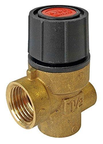 6 Bar 1/2' FBSP x FBSP Pressure Relief Valve with Gauge Port Emmeti