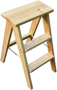 LY-Escalera Escalera plegable heces Silla plegable multifunción 3 Pasos sólido taburete de madera plegable taburete de paso 37.5x46x62cm multiuso reposapiés (Color : Wood Color): Amazon.es: Bricolaje y herramientas
