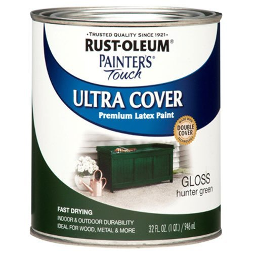 Rust-Oleum 1938502 Painters Touch Latex, 1-Quart, Hunter Green