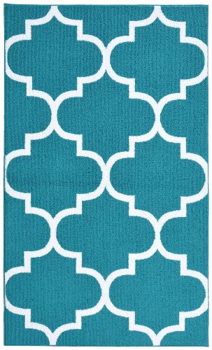 Garland Rug Quatrefoil 7 Feet White product image
