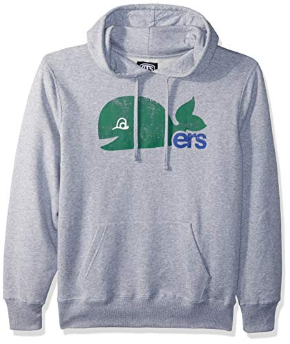 OTS NHL Hartford Whalers Male Bravo Fleece Hoodie Distressed, Slate Grey, Large ()