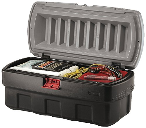 Rubbermaid ActionPacker Lockable Storage Box, 48 Gallon, Grey and Black (1949210) by Rubbermaid Commercial Products
