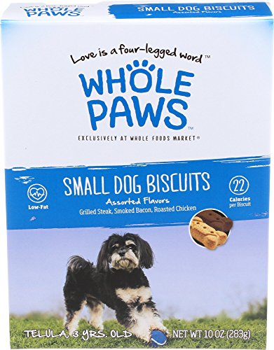 Whole Paws, Small Dog Biscuits, Assorted Flavors, 10 Ounce