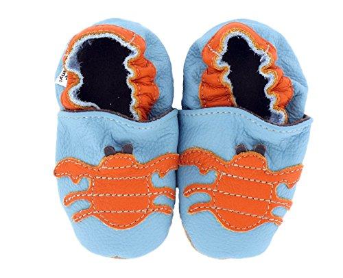 HEBA-Germany–Zapatos para gatear de cangrejo azul azul claro Talla:24/25