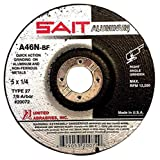 United Abrasives 5'' X 1/4'' X 7/8'' A46N 46 Grit Aluminum Oxide Type 27 Grinding Wheel-5 Each