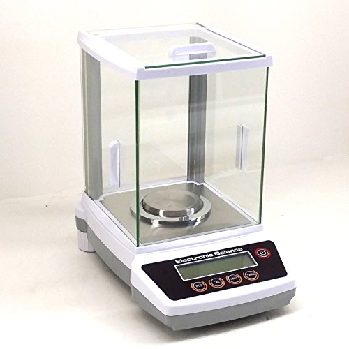 200G x 0.001G Digital Precision Analytical Balance Lab Scale Size: 16'' H x 13'' W x 17'' D by Hardware Factory Store