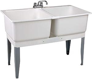 Mustee 24C Utilatwin Combo Laundry/Utility Tub Kit, White