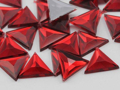 (5mm Ruby Garnet A28 Flat Back Acrylic Triangle Jewels High Quality Pro Grade)
