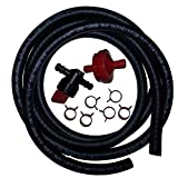 Carburetor Fuel Line Replacement Kit for Tecumseh, Briggs and Stratton, and Kohler Engines 9 Piece Bundle with Shut-off Valve