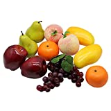 Decorative Lifelike Realistic Artificial Fake Fruit Decor (Set of 12)