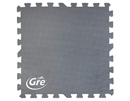 Gre MPF509GY - Protector de Suelo para Piscina, 9 piezas, Color Gris, 8 mm de Grosor