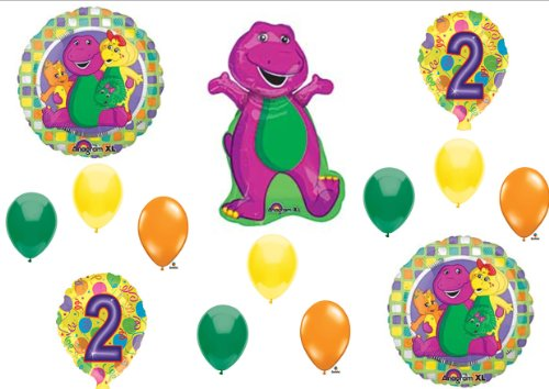 BARNEY 2nd BIRTHDAY PARTY Balloons Decorations Supplies Baby Bop