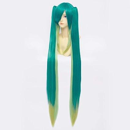 Amazon.com: Baisheng Hatsune Miku Verde doble cola de ...