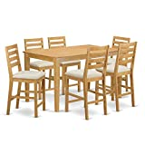 East West Furniture CACF7H-OAK-C 7 Pc Counter Height Set-Pub Table and 6 bar stools with Backs Review