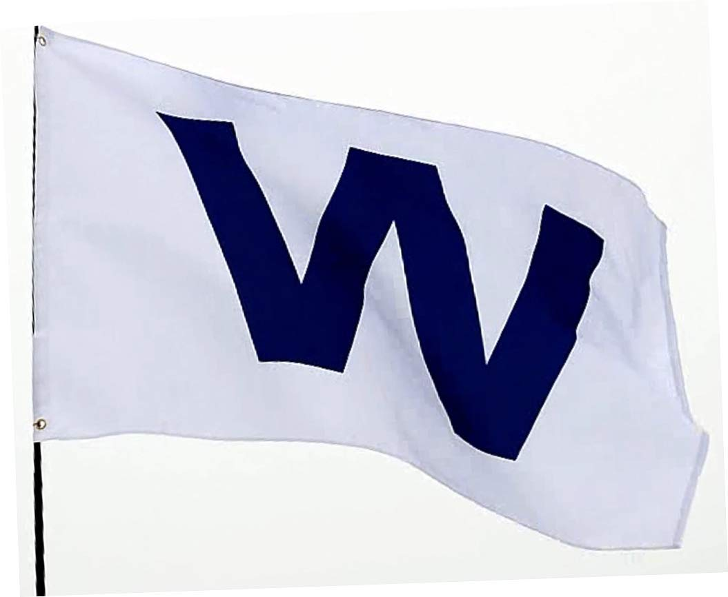 Eugenys Chicago W Win Flag (3x5 Feet) - 100% Super Polyester Material - Free Bonus Included - Large Cubs Win Banner with Durable Brass Grommets - Perfect for Hanging Indoor/Outdoor
