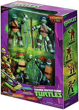 Pack de 4 personnages de TMNT - Leonardo, Donatello, Michel-Ange et Raphael Teenage