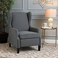 Welsey Traditional Charcoal Fabric Recliner