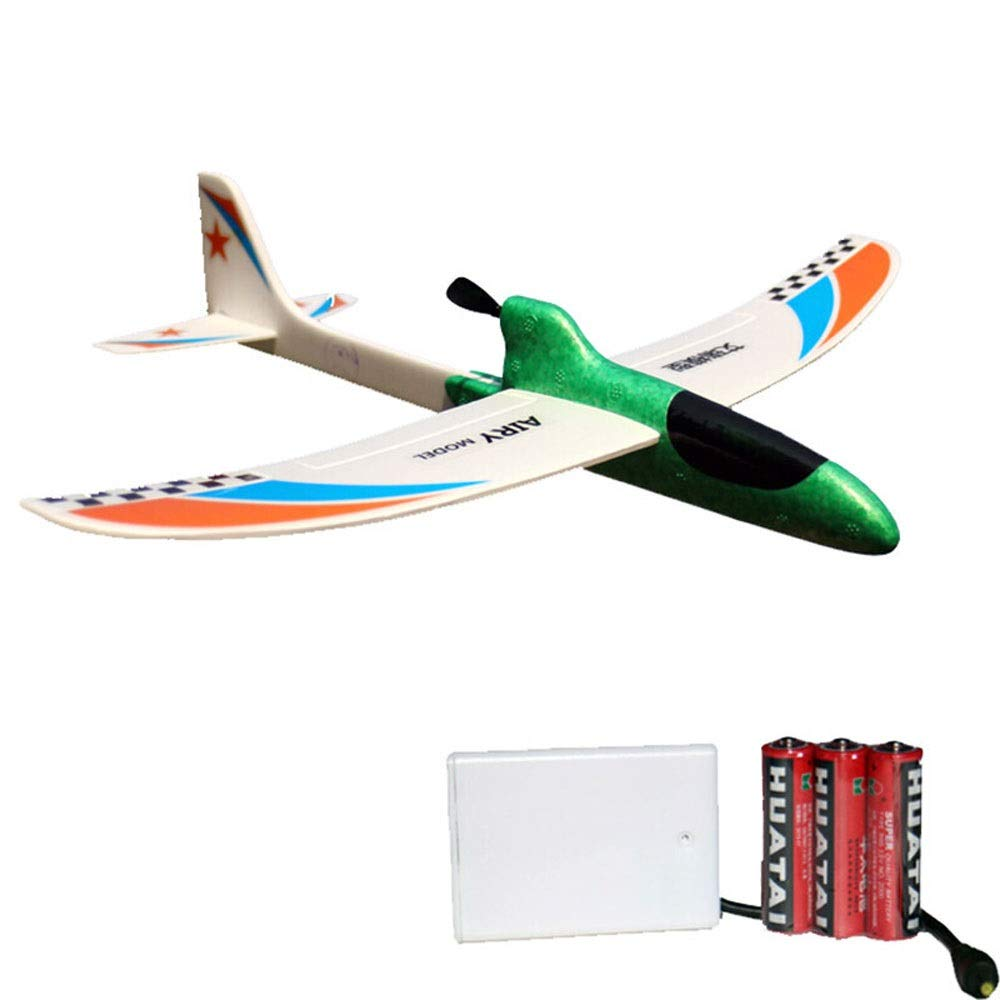 Ycco Foam Throwing Glider Airplane, GreatestPAK Hand Launch Inertia Plane Model Toy Gift for Children Home Decoration Collection Flight Mode Outdoor Sports Flying (Color : Green)
