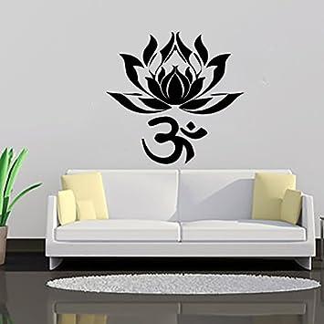 la flor de loto vinilos decorativos de yoga de la india las palabras del arte namaste
