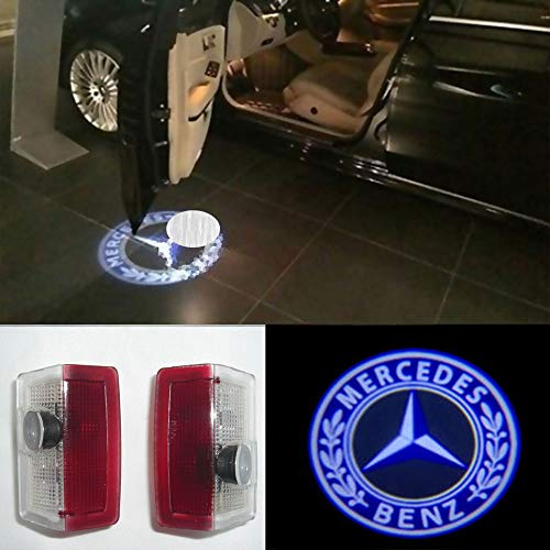 - 2X LED Door Step Courtesy Laser Light Shadow Logo Projector Lmap For Mercedes Benz W176 A160 A180 W246 B180 B200 W205 C160 C180 W166 ML250 ML300 ML350 ML400 W212 E200 E220 Welcome Light CNAutoLicht #3