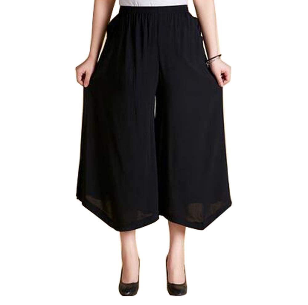 Women's Fashion Everyday Casual Pants Outdoor Sport Loose Pants, Pure Black by Generic