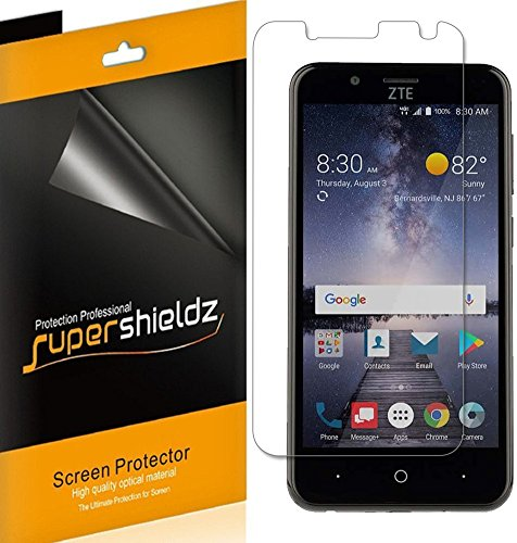 [6-Pack] Supershieldz for ZTE Blade Vantage Screen Protector, Anti-Glare & Anti-Fingerprint (Matte) Shield + Lifetime Replacements - Finger Vantage