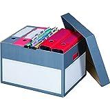 """karton-billiger 10 Stück Archivschachteln """"Premium"""" mit Boden und Deckel zur Ablage von Ordnern A4"""
