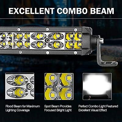 Wayup LED Light Bar 12 Inch 108W OSRAM LED Work Light Pods Spot Flood Combo Off Road Super Slim Dual Row Driving Fog Lamps Waterproof for Trucks ATV UTV Boat Jeep 4WD Motorcycle: Automotive