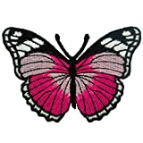 big minnie mouse iron on patches - Dark Pink Butterfly Embroidered Iron on Patches