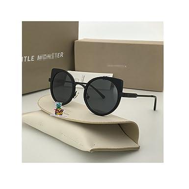 Fashion Vintage Unisex Cateye Frame New Gentle man Women Monster divinity Moooi Sunglasses - black silver 7f8r58