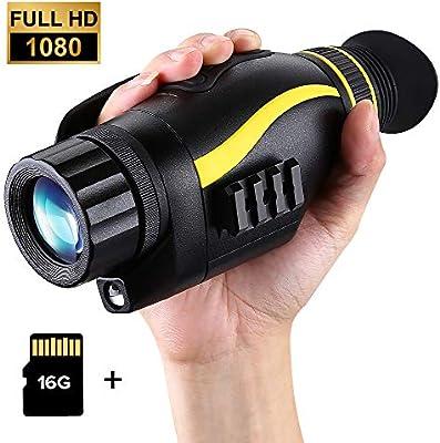 Amazon.com: BOBLOV 4X35mm Night Vision Monocular 1080P Full ...