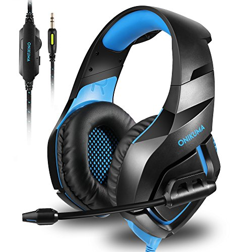 High Quality S-video (ONIKUMA Stereo Gaming Headset for PS4 Xbox One, Noise Cancelling Mic Over Ears Gaming Headphones with Microphone for Nintendo Switch PlayStation 4 Laptop Smartphones and PC)