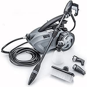 Powerhouse International - The Force 1800 - PULL BEHIND - 1.6 GPM 1800 PSI Electric Pressure Washer with 20 Foot Quick Connect Hose, 3 Different Nozzles, Nylon Brush, Soap dispenser