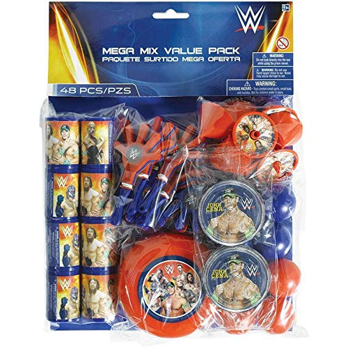 Amscan WWE Mega Mix Favor Pack (For 8 Guests) - Party Supplies -