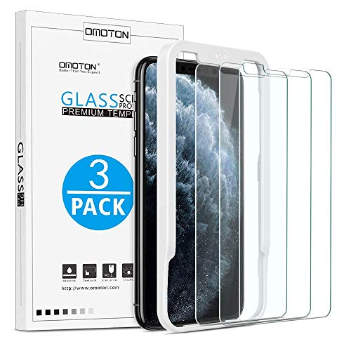 OMOTON  [3 Pack] Screen Protector for Apple iPhone 11 Pro Max/ iPhone Xs Max- Tempered glass/ Alignment Frame/ Anti Scratch Screen Protector for iPhone 11Pro Max /iPhone Xs Max 6.5 inch