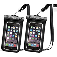 OCASE Waterproof Phone Case, Universal Waterproof Bag Dry Bag With Neck Strap for Apple iPhone 7, 7 Plus, 6 6S, 6S Plus, SE 5S, Samsung Galaxy S7 Edge, S6 Note 5, HTC LG Sony Motorola - Black-2 Packs