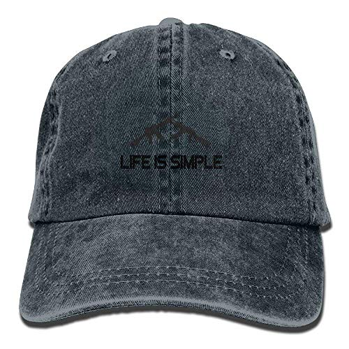 HONGANY Life is Simple AK-47 AR-15 Adjustable Baseball Caps Denim Hats Cowboy Sport Outdoor