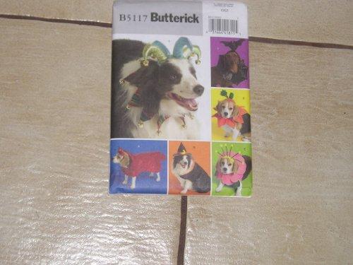 Butterick B 5117 , Dog Costumes, Jester, Witch, Flower, Dracula, Devil, Pumpkin -