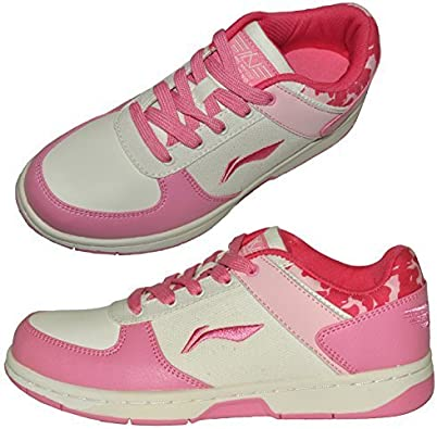 Li-Ning Zapatos mujer Li Ning Rosa Blanco Zapatillas Deportivas Para Mujer Calzado deportivo 37 GB 4: Amazon.es: Zapatos y complementos