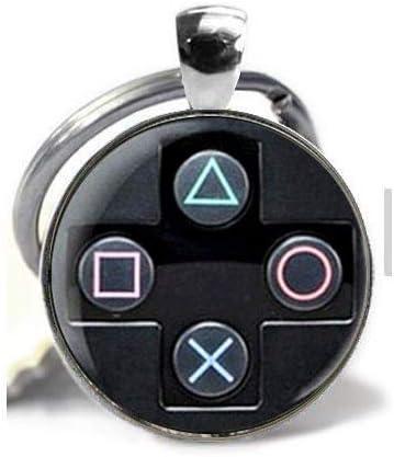 Llavero de regalo para novio cristal y fotos ideal para joyas Playstation
