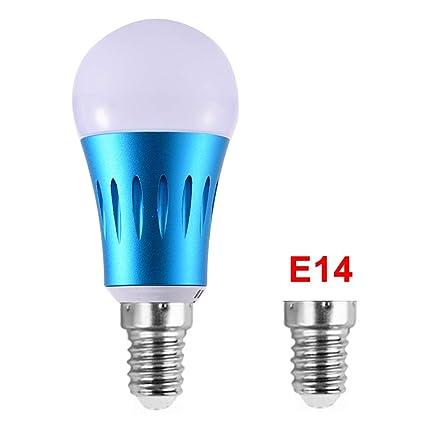 YHLVE - Bombilla Inteligente con WiFi, LED Regulable de 7 W RGB, Compatible con