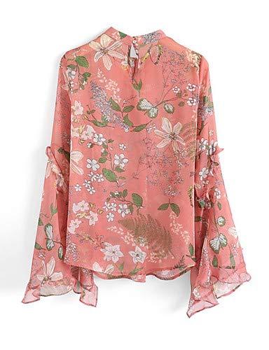 Blushing Couleur Pink Coton Unie Femme en Chemisier YFLTZ wAx1cqZHqY