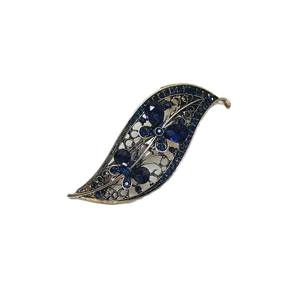 Arichtop Femmes Gilr bowknot cristal strass pince à cheveux en épingle à cheveux printemps métal Barrette chapeaux bijoux cheveux Grip