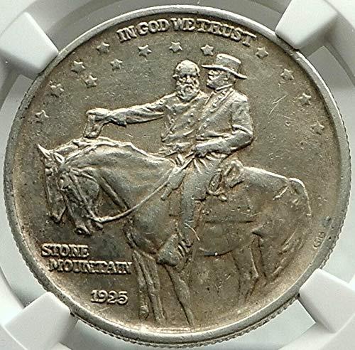 1925 US AR Commemorative Half Dollar STONE WALL GENERA coin AU DETAILS NGC -