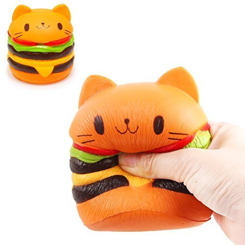 Hemore Slow Rising Squishy Toys Squishies Toys Stress Reliever Toys Squeeze Toys 9.511.5Cm Decompression (Butter Aroma) Cat Burger For Kids (Butter Cat)