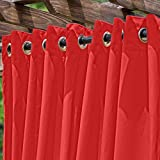 DFOHome Red Extra Wide Outdoor Curtain with Nickel Grommets 120'' W x 96'' L
