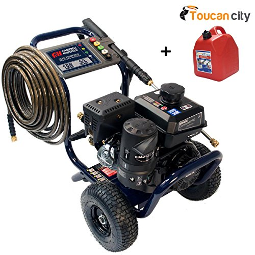 Toucan City Gas Can and Campbell Hausfeld Pressure Washer, 4200 PSI 4.0 Max GPM, Commercial Gas Kohler Engine PW420400