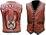 Men's Brown Real Leather Vest/Ja