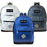 """17"""" Wholesale Backpack in 3 Assorted Space Dye Colors - Bulk Case of 24 Bookbags"""