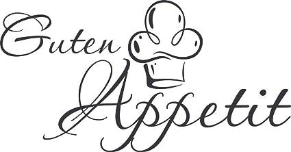 GRAZDesign 620591_30_073 Wandtattoo Küche Guten Appetit mit Mütze |  Küchen-Aufkleber und Tattoo für Deine Wände - Schränke - Fliesen - Möbel |  ...